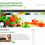 Автонаполняемый большой портал по приготовлению еды, для заработка на Google Adsense и РСЯ