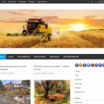 Автонаполняемый сайт новости сельского хозяйства, для заработка на Google Adsense и РСЯ