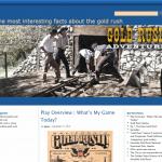 Купить англоязычный сайт о золотой лихорадке под ключ, для заработка на Google Adsense