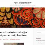 Купить англоязычный сайт о вышивке под ключ, для заработка на Google Adsense